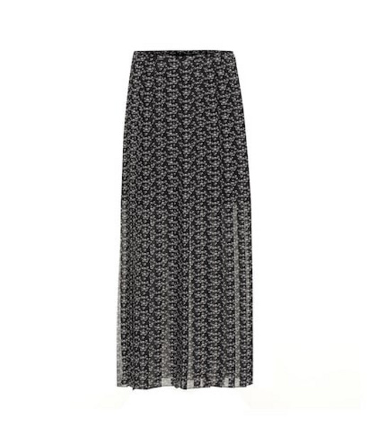 See By Chloé Printed maxi skirt in black