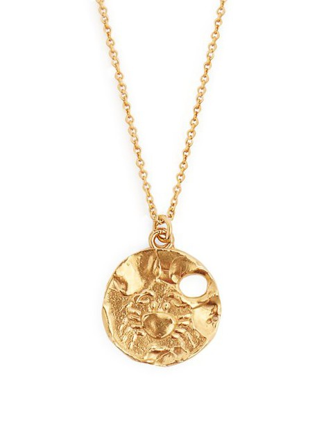 Alighieri - Cancer Gold Plated Necklace - Womens - Gold