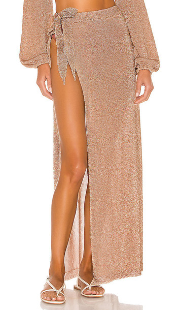 Lovers + Friends Lovers + Friends Nayelli Wrap Skirt in Metallic Gold