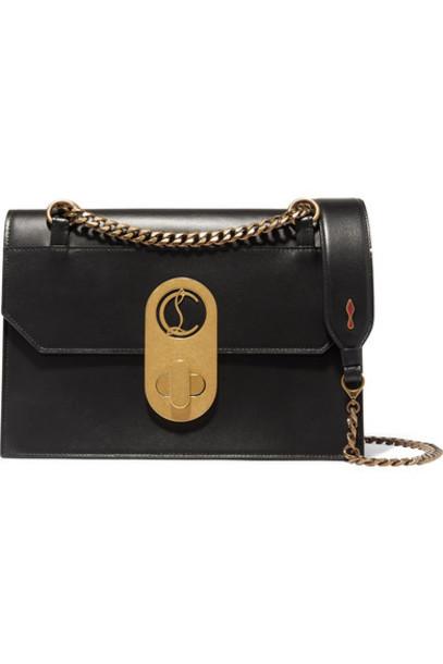 Christian Louboutin - Elisa Large Leather Shoulder Bag - Black