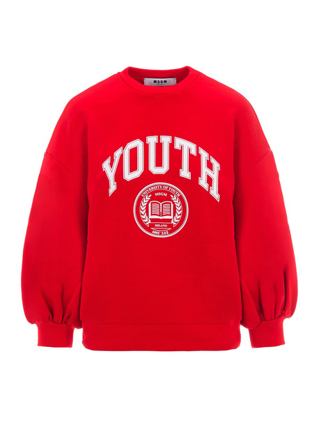 Msgm Youth Print Sweatshirt