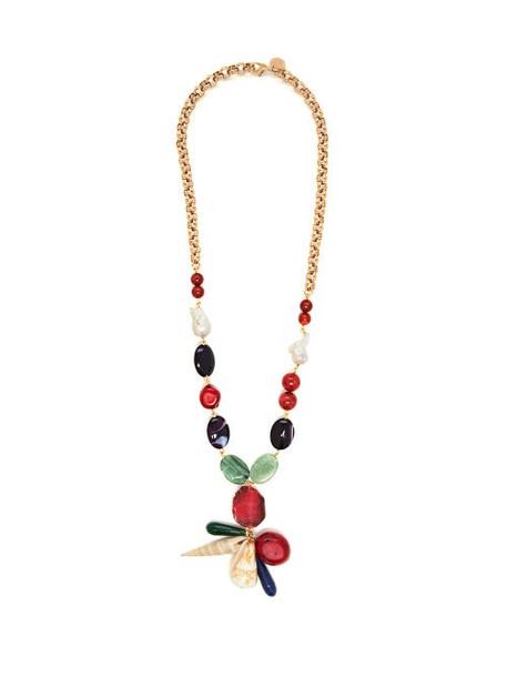 Carolina Herrera - Bead And Chain Necklace - Womens - Multi