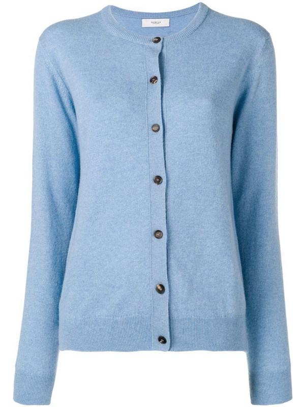 Pringle of Scotland classic slim-fit cardigan in blue