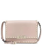 satchel,bag,shoulder bag,leather,pink