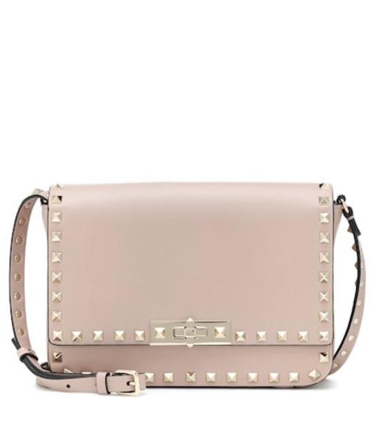 satchel bag shoulder bag leather pink
