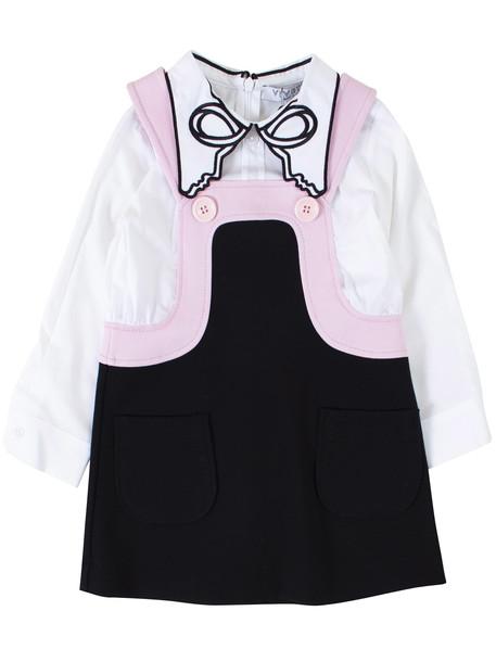 Vivetta Baby Girl Dress in nero / bianco