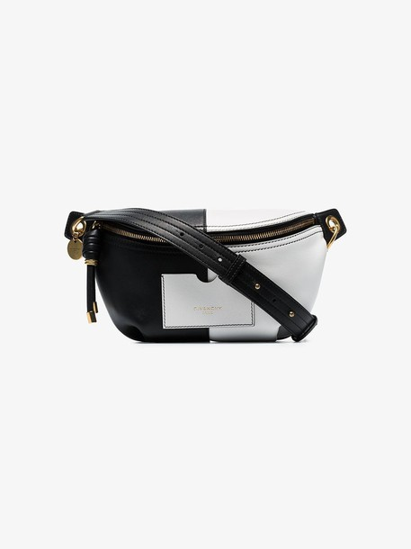 Givenchy White and black Two-tone leather belt bag