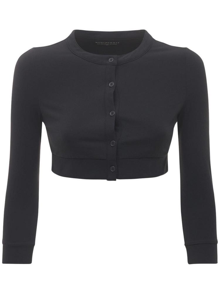 WEWOREWHAT Cropped Cardigan in black