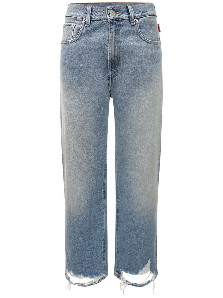 DENIMIST Pierce High Waist Denim Straight Jeans in blue