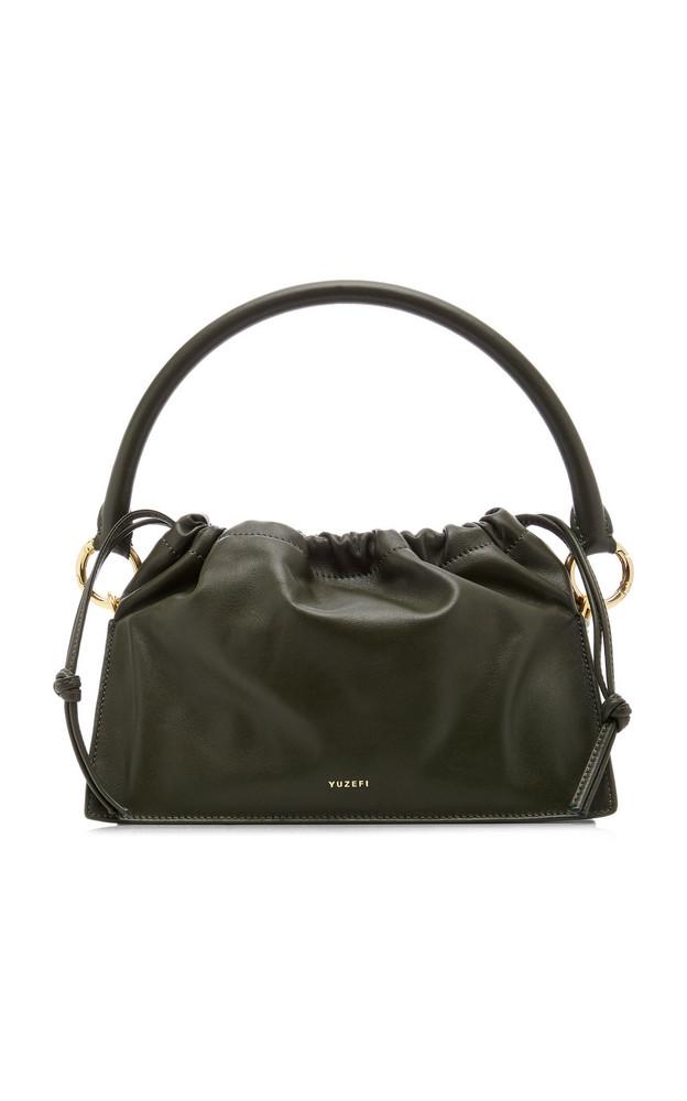 Yuzefi Bom Leather Shoulder Bag in green