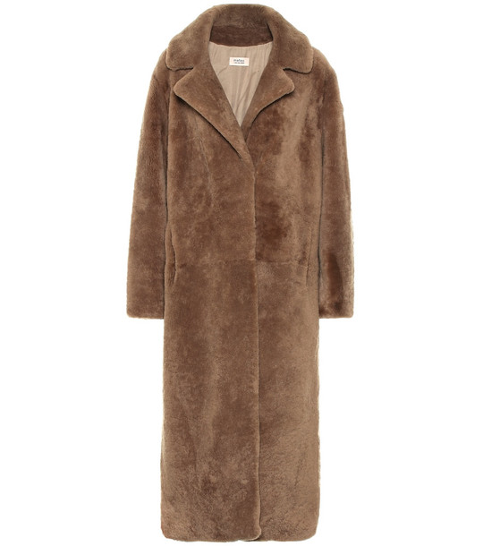 Yves Salomon Shearling coat in brown