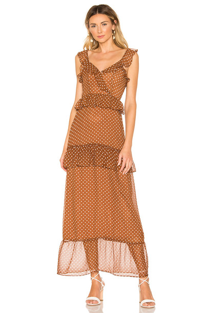 House of Harlow 1960 x REVOLVE Violette Dress in chocolate