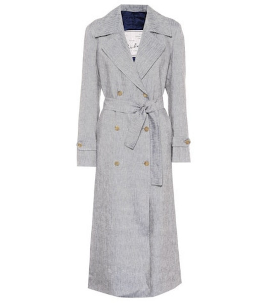 Giuliva Heritage Collection The Christine linen trench coat in grey