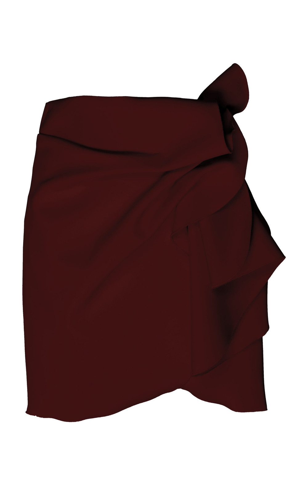 Acler Joleen Mini Skirt in burgundy