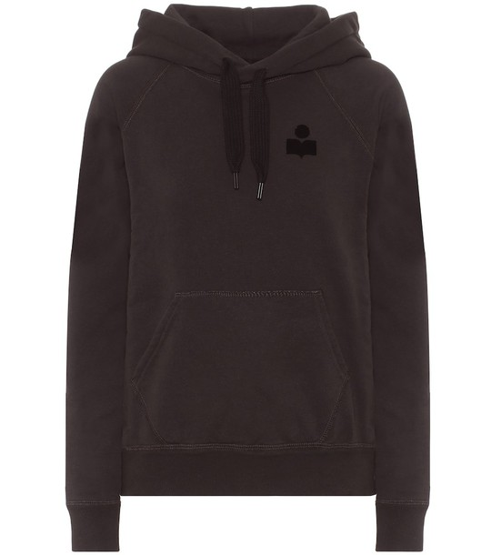 Isabel Marant, Étoile Malibu cotton-blend jersey hoodie in black