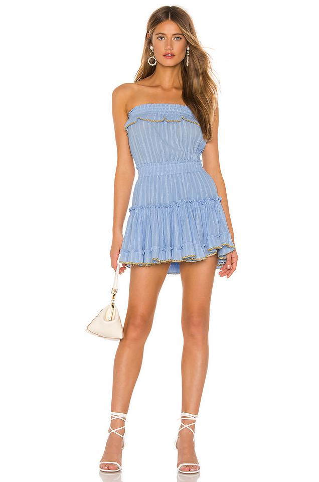 MISA Los Angeles Eda Dress in blue