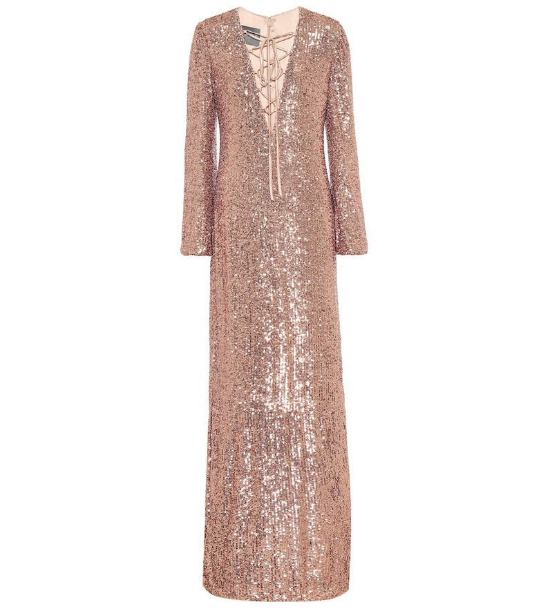Monique Lhuillier Sequined gown in pink