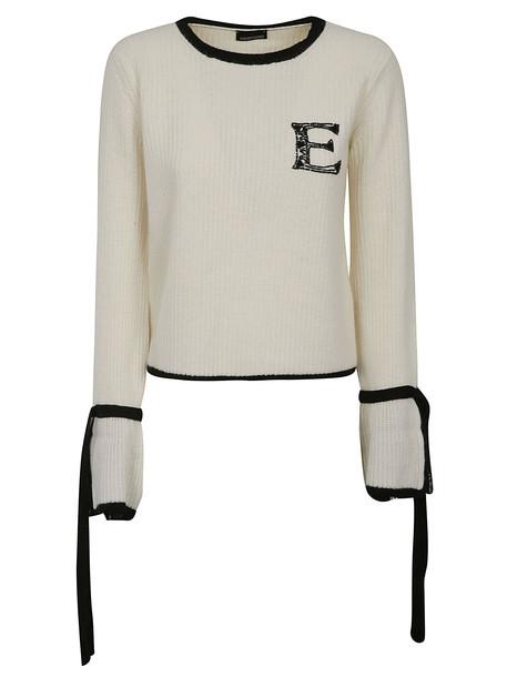 Ermanno Ermanno Scervino Knitted Sweater in nero / white