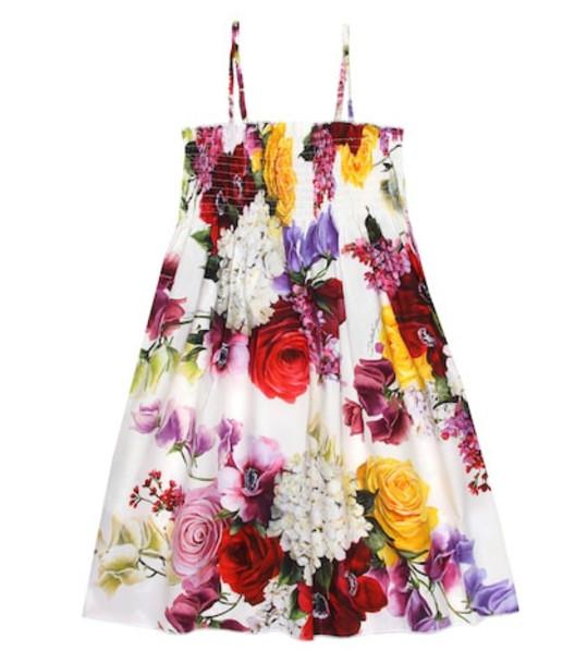Dolce & Gabbana Kids Floral-printed cotton dress