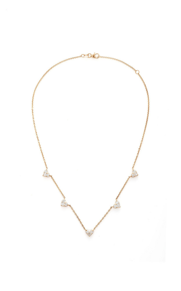 Shay 18K Rose Gold Diamond Necklace in pink