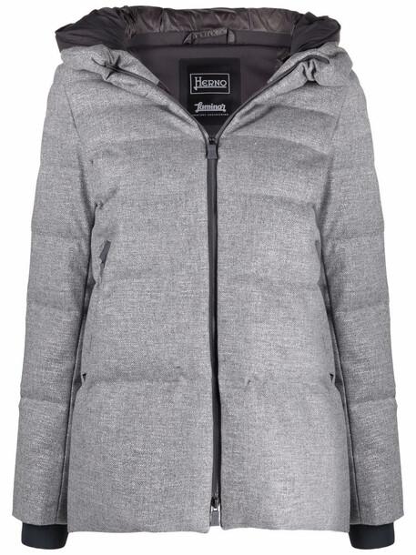 Herno hooded padded coat - 9406 GREY