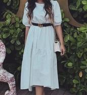 dress,poofysleeve,classy,white dress