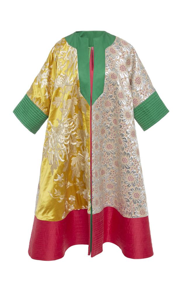 Rianna + Nina Rianna + Nina Exclusive Paneled Brocade And Duchess Silk-Satin Coat