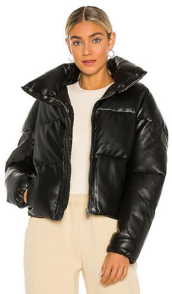 Apparis Jemma Puffer Coat in Black in noir