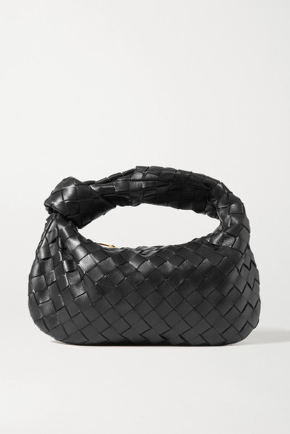 Bottega Veneta - Jodie Mini Knotted Intrecciato Textured-leather Tote - Black