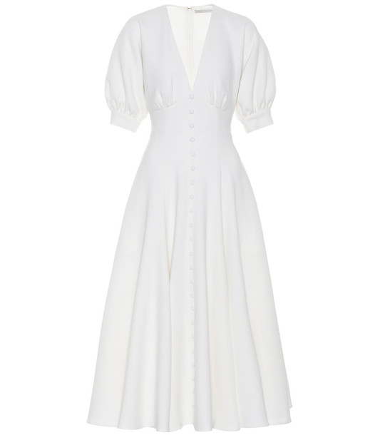 Emilia Wickstead Bria wool-crêpe midi dress in white