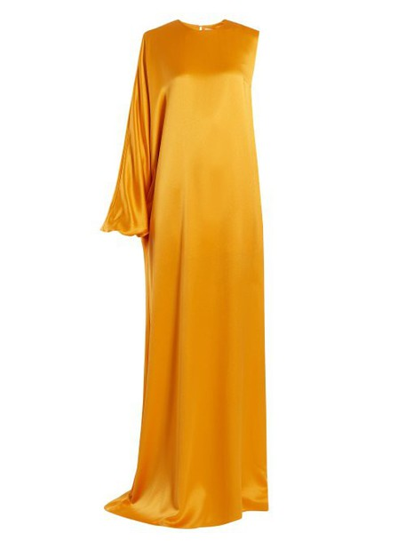 Roksanda - Delmira One Shoulder Satin Gown - Womens - Orange