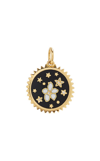 Foundrae Resilience 18K Gold And Diamond Pendant in black
