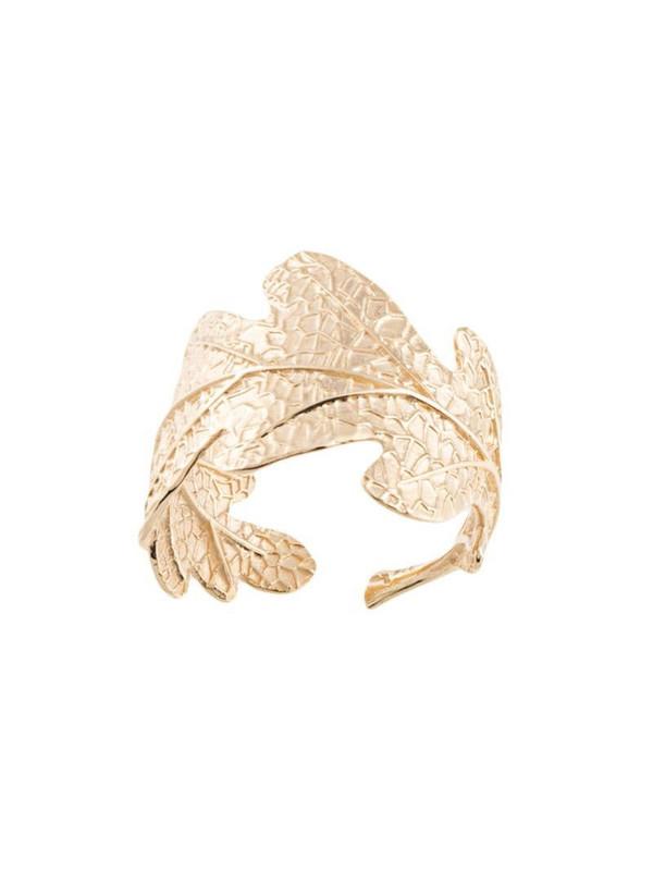 Karen Walker oak leaf ring in gold
