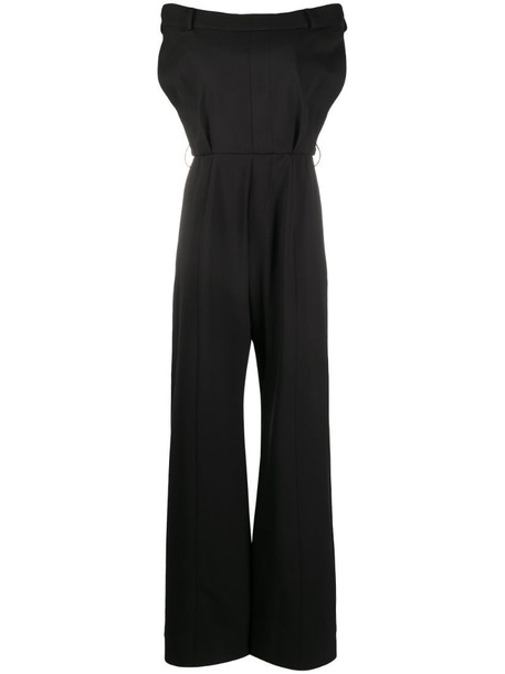 Moschino tailored off-shoulder jumpsuit in black