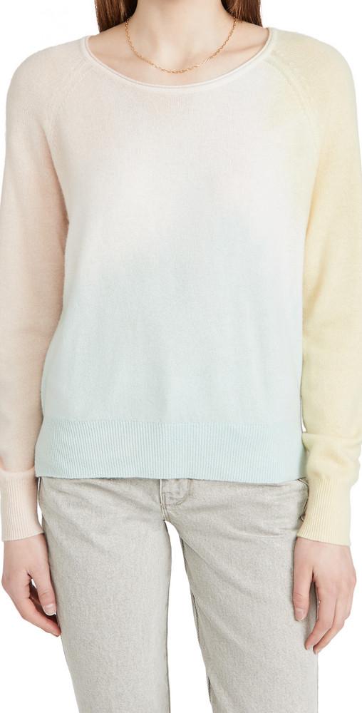 White + Warren White + Warren Tri-Dye Cashmere Sweatshirt
