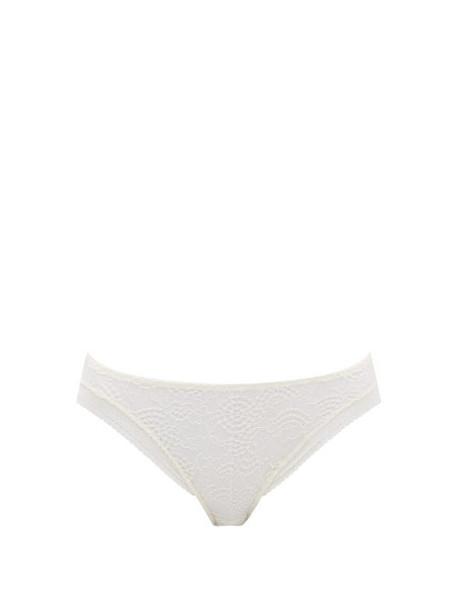 Eres - Belle De Nuit Crepuscule Stretch Lace Briefs - Womens - Cream