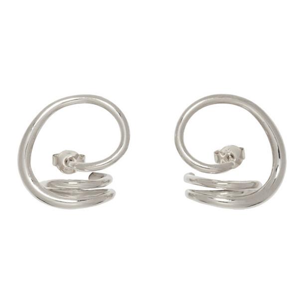 Charlotte Chesnais Silver Round Trip Earrings