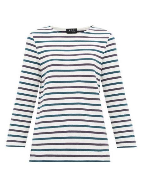 A.P.C. A.p.c. - Catarina Breton Striped Cotton Top - Womens - White Multi