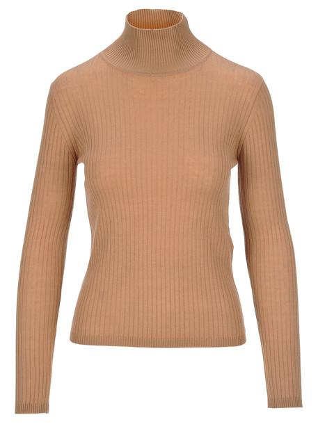 Max Mara Studio Falasco Knit Sweater in beige