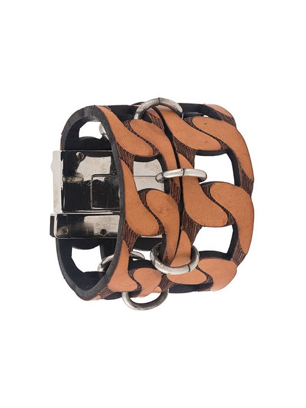 Gianfranco Ferré Pre-Owned 2000s cut-out chain style bracelet in brown