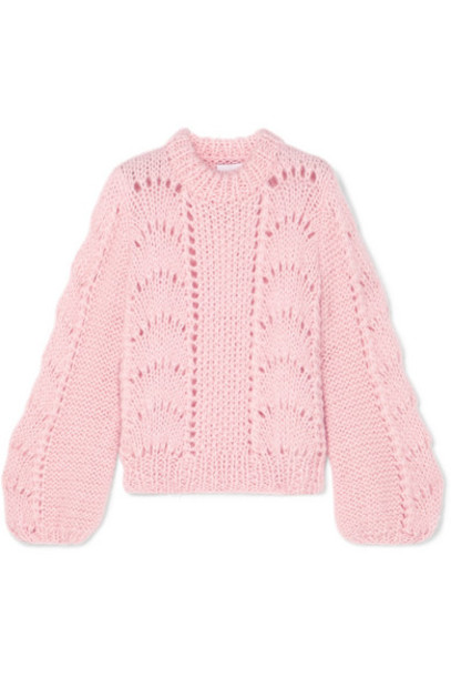 GANNI - Julliard Mohair And Wool-blend Sweater - Pastel pink