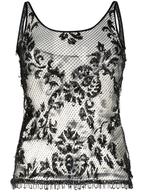 Dolce & Gabbana Pre-Owned lace tank top in black