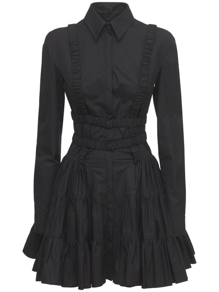 GIOVANNI BEDIN Cotton Poplin Short Dress in black
