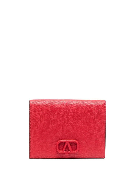 Valentino Garavani compact foldover VSLING purse in red