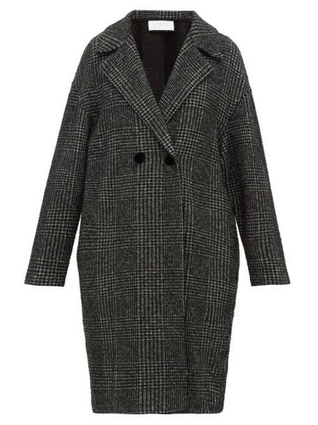 Harris Wharf London - Glen Checked Glitter Fil Coupé Coat - Womens - Black White