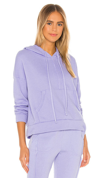 Free People Work It Out Hoodie in Lavender in violet