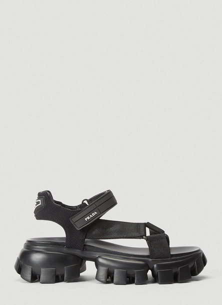 Prada Cloudburst Thunder Sandals in Black size EU - 40