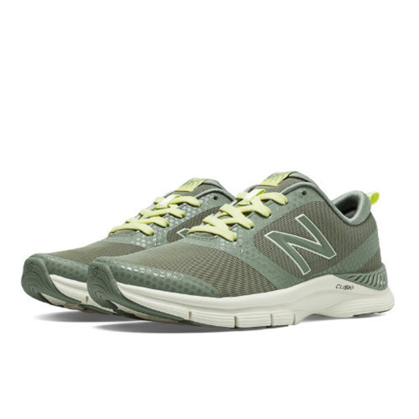 New Balance 711 Print Women's Gym Trainers Shoes - Olive Green, Light Lime Yellow (WX711GW)