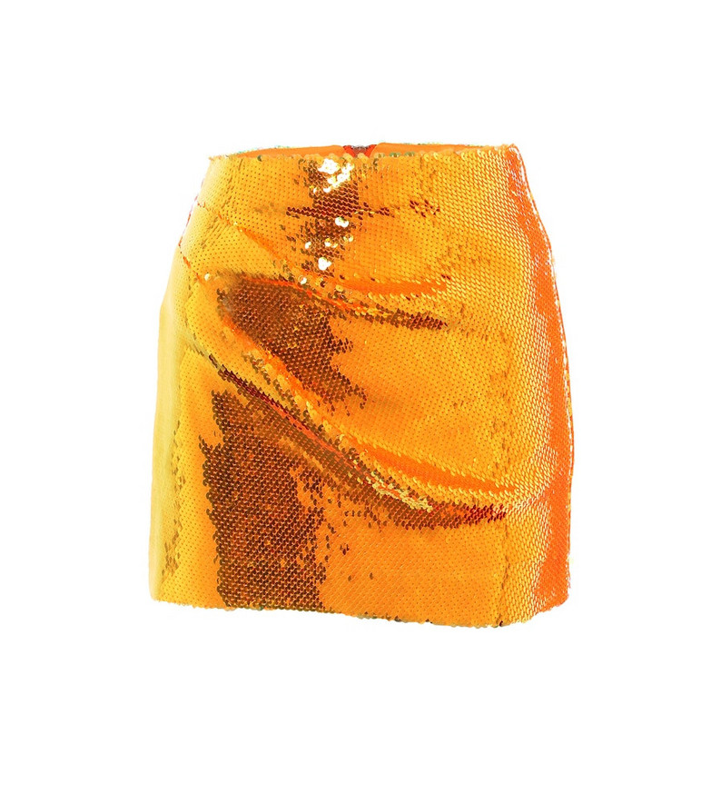 Alex Perry Riley high-rise sequined miniskirt in orange