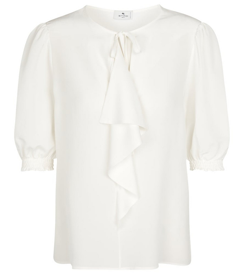 ETRO Silk crêpe blouse in white